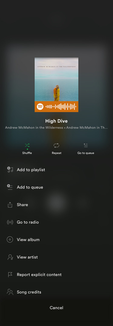 song options