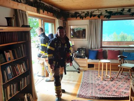 Brandgeschehen in Wohnung