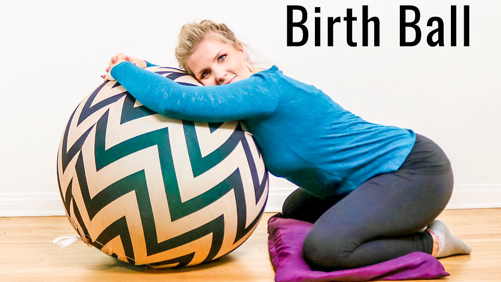 The BUNDLE Birth Guide to Using a Birth Ball