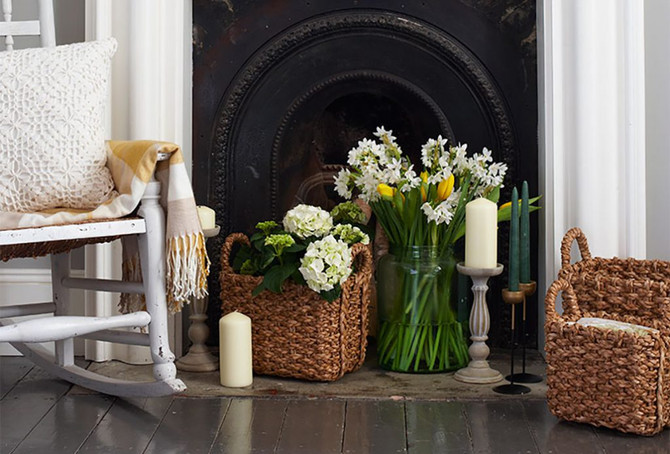Faux Fireplace Glam