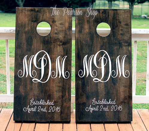 Monogram Cornhole Set