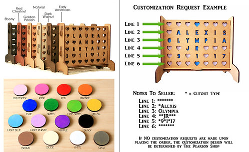 Personalized Connect 4 Remake Boards