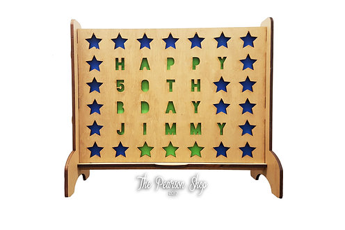 Personalized Connect 4 Stars Game