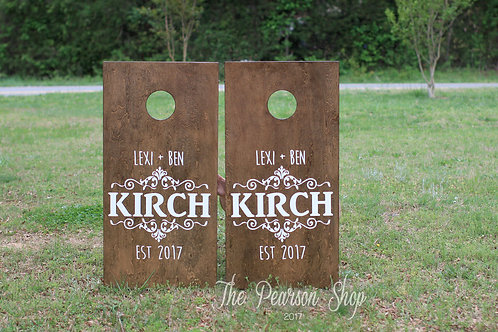 Last Name Personalized Cornhole Set