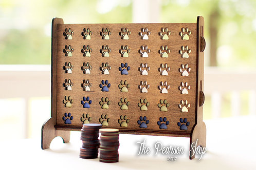 Connect 4 Paw Prints Game