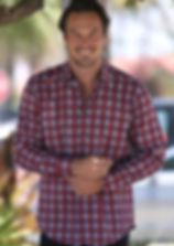Biaggio Riviera Window Pane Men's Sport Jacket - Coral