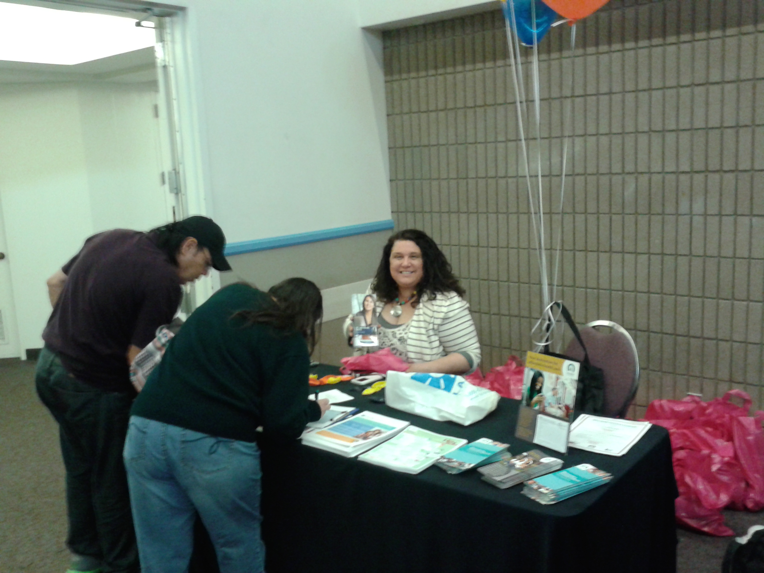 Guests registering for event