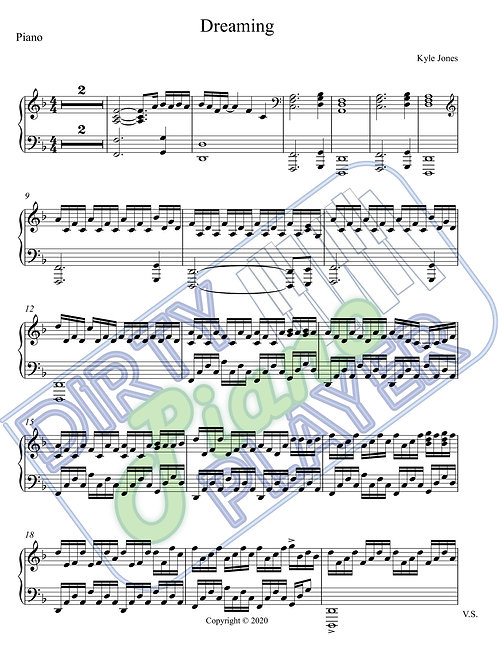 Dreaming - Piano