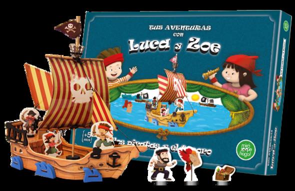 juegos didacticos personajes jugar con madera goma eva crear historias armar barco carton piratas aventuras objeto ludico diseño niños niñas