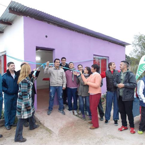 Inauguración de la escuela de oficios en el régimen abierto.
