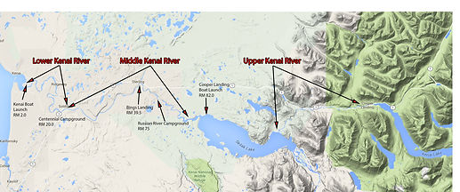 Kenai River Fishing Holes