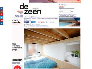 Two boxes replace walls in Kanagawa apartment by 8 Tenhachi @dezeen