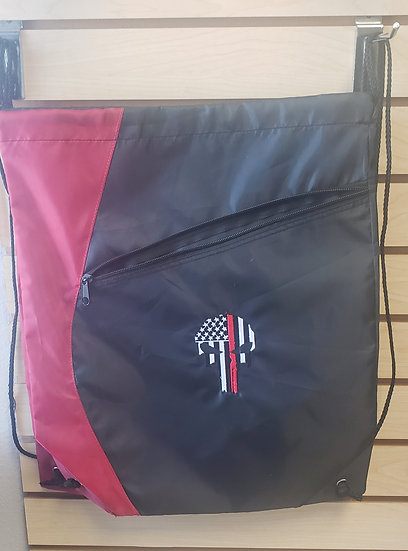 Thin red line cinch bad with zippered pocket