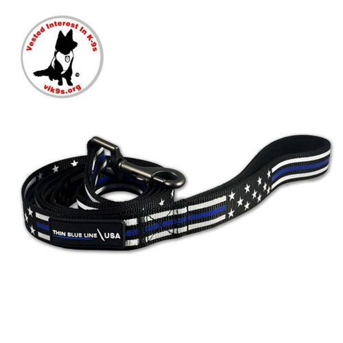 Dog Leash, Thin Red Line Stars & Stripes