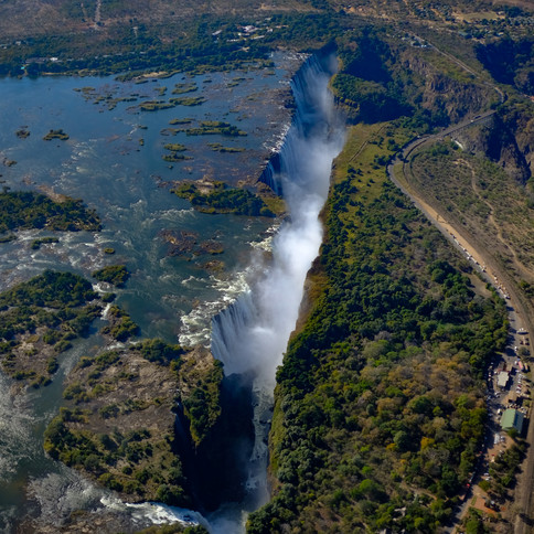 Vic Falls from the air
