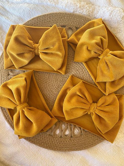 Corduroy Headwrap bows.