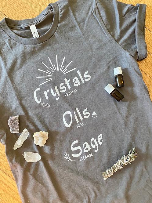 Crystals Oils Sage Tshirt