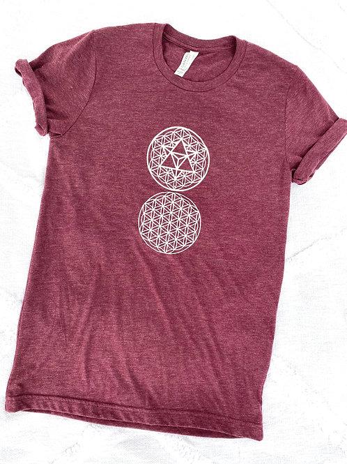 2 Flower of Life T-shirt