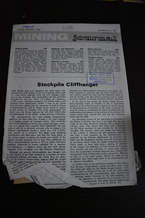 Журнал 1976г. MINING №7363 Volume 287