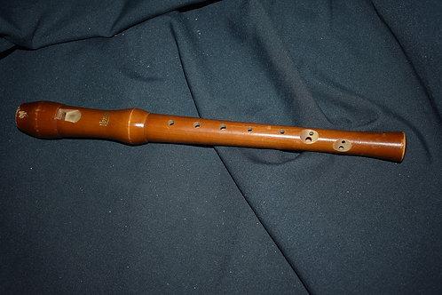 Блокфлейта тёмная из грушёвого дерева с деревянным мундштуком