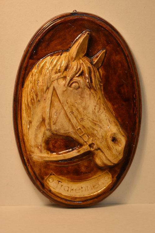 """Панно """"Лошадь"""" керамическое 10,5х16см."""
