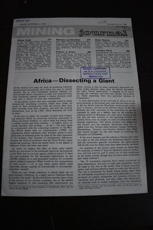 Журнал 1976г. MINING №7369 Volume 287