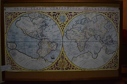 Карта мира 49х88см. ORBiS TERRAE COMPENDiOSA DESCRiRTiO на латинском