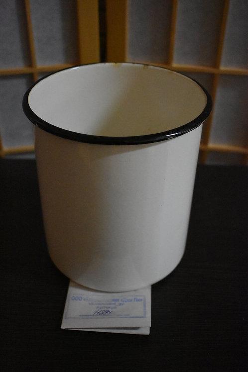 Банка эмалированная белая для хранения крупы, без ручки и крышки (Арт.8200р)