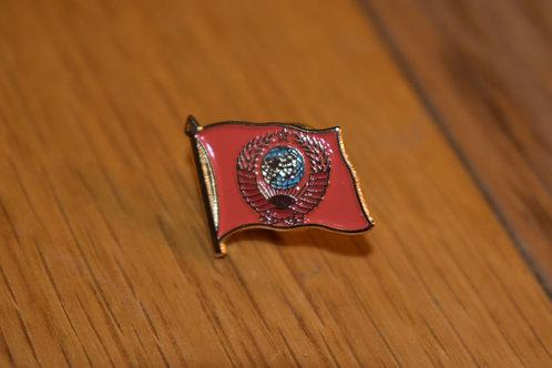 """Значок """"Флаг с гербом СССР"""" СУВЕНИР!"""