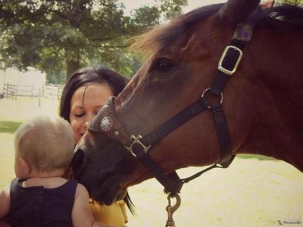 Kids, family, horses