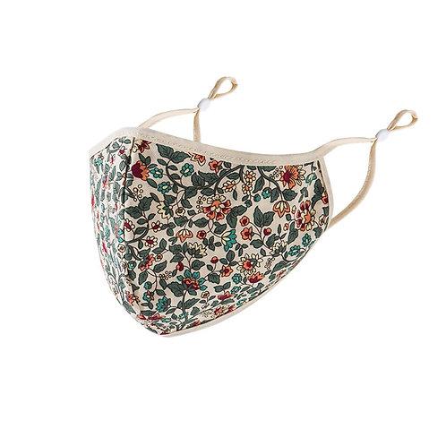 Adult Floral Print Adjustable Safet Protect Washable Cotton Mask  Anti Fog Dust