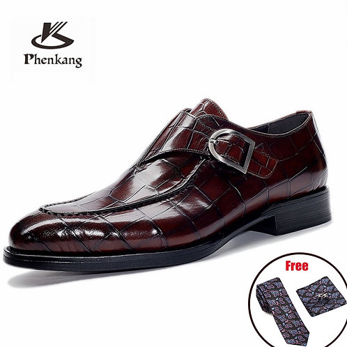Men Leather Shoes Business Dress Suit Shoes Men Brand Bullock Genuine Leather Bl