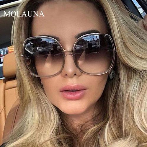 2020 New Round Sunglasses Women Oversized Ladies Fashion Plastic Outdoor Gradien