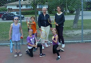 Tennis lessons for children in Calgary, Alberta - small stringed racquets