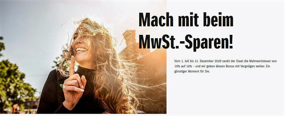 Mach mit beim MwSt.-Sparen Autohaus Essert