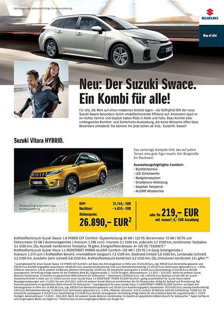 Sonderaktionen Suzuki Autohaus Essert 1.