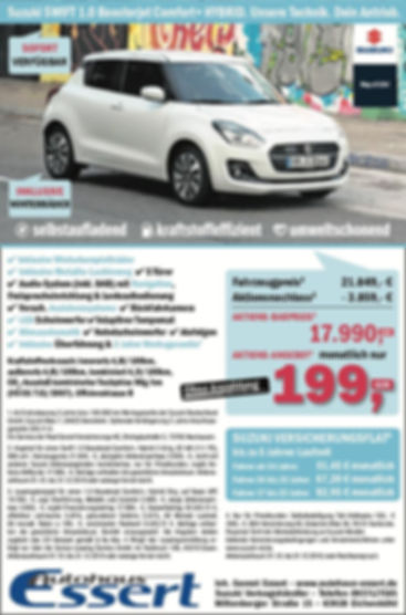 Suzuki Swift Hybrid Sonderaktion Autohau