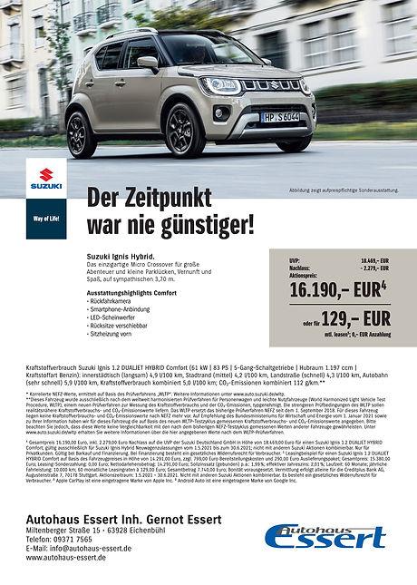 Sonderaktionen Suzuki Autohaus Essert 4.