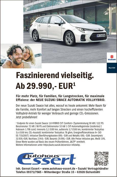 Anzeige Suzuki Swace FINAL Autohaus Esse