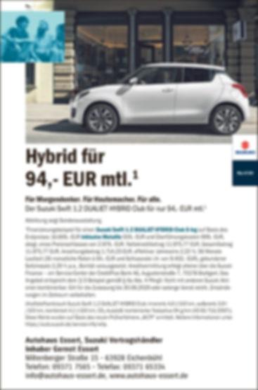 FINANZIERUNG Suzuki Swift HYBRID Autohau