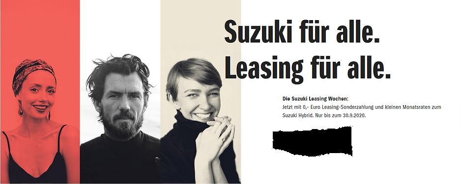 Suzuki Leasing für Alle Autohaus Essert