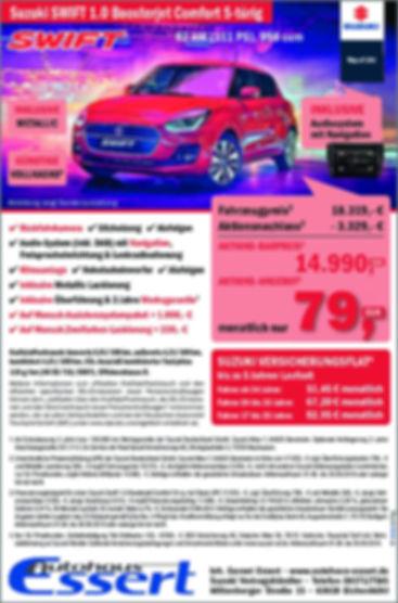Sonderaktion Angebot Suzuki Swift Autohaus Essert