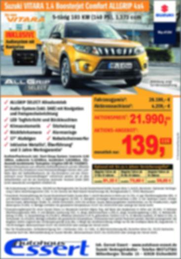 Sonderaktion Autohaus Essert Angebot Suzuki Vitara