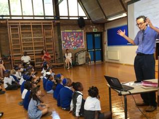 Visit to school on Roald Dahl's 100th Birthday