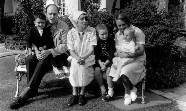 Roald Dahl and family