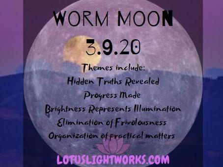Worm Moon | Full Moon March 9, 2020