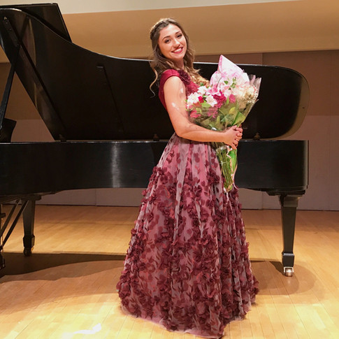 Martina after completing her Fourth Year Recital
