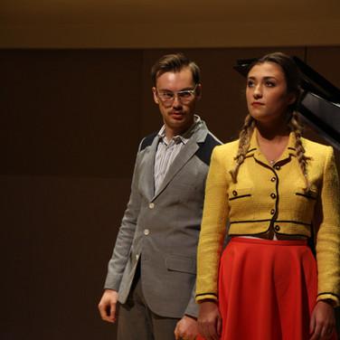 Martina in a Hugo Wolf Italienisches Liederbuch concert featuring Baritone, Jacob Feldman