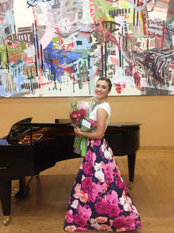 Martina after completing her Third Year Recital