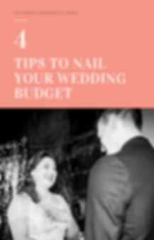 4 Tips to Nail you Wedding Budget Front